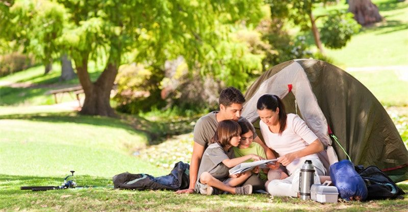 family friendly camping spots