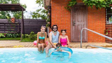 family love backyard swimming pool