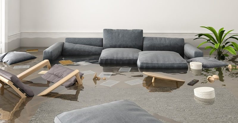 home clean up after water damage