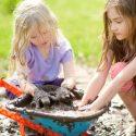 kids play in mud