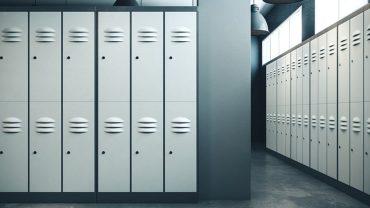 laminate and metal lockers
