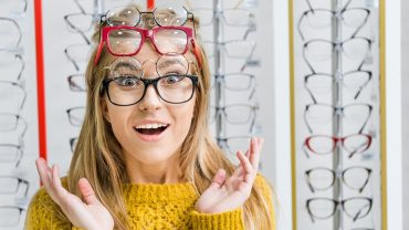 reinvent look with spectacles