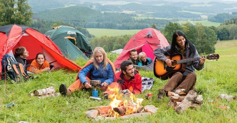 weekend camping trip
